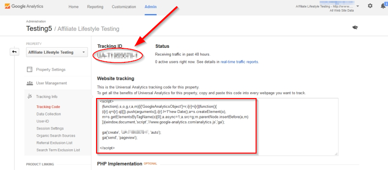 Add Google Analytics Code