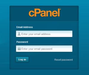Webhosting login