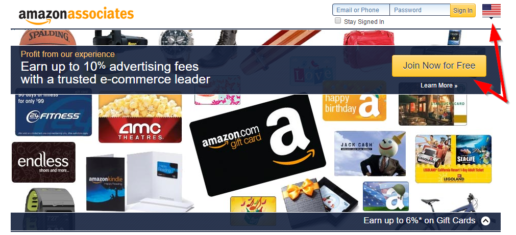 Affiliate Marketing Amazon Sign Up