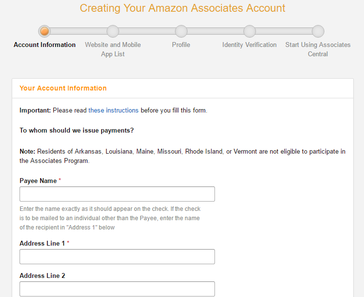 How to sign up as an Amazon Affiliate