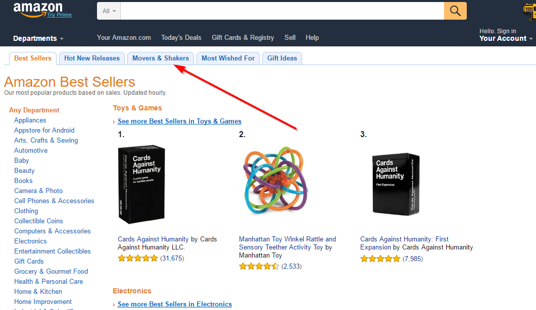 Affiliate Marketing Amazon Bestsellers