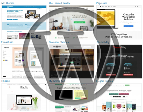 WP themes are designed to cover many purposes and needs.