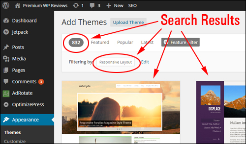 Use WordPress Theme Feature Filter