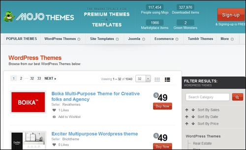 Mojo Themes - WordPress Themes Directory